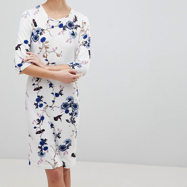 b.Young Floral Shift Dress - Combi2