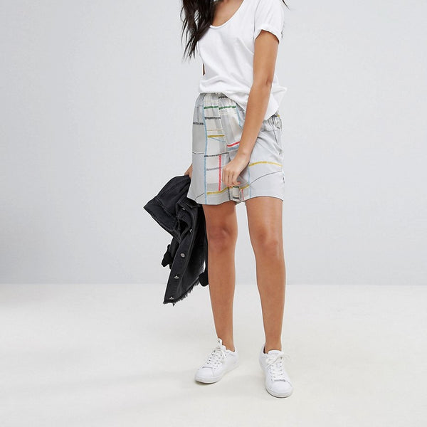 Native Youth Print Shorts - Grey