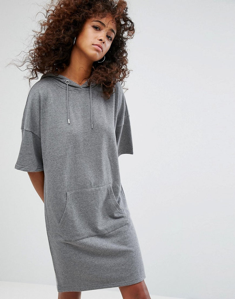 Noisy May Sweater Dress - Medium grey melange