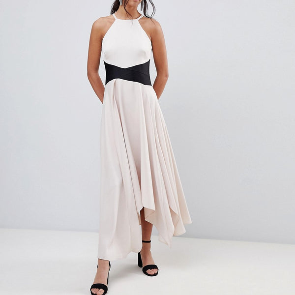 Coast ASYMMETRIC Cami Maxi Dress - Blush