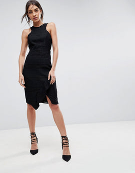 Adelyn Rae Bianca Lace Sheath Dress - Black