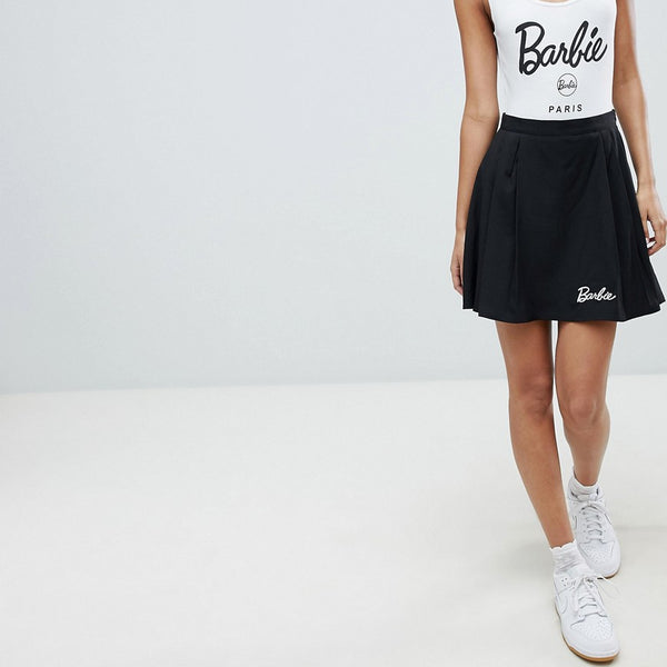 Missguided Barbie Pleated Mini Skirt - Black