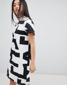 Cheap Monday Mega Text Smash Dress - White