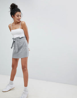 Bershka Multi Check Mini Skirt - Multi