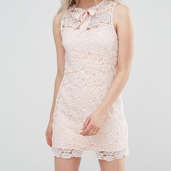 Foxiedox Lace Poppy Shift Dress - Pink