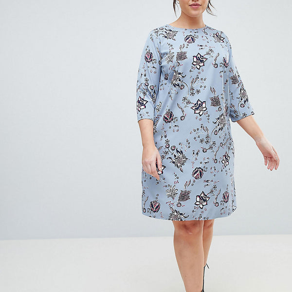 Junarose Delicate Floral Print Shift Dress - Multi