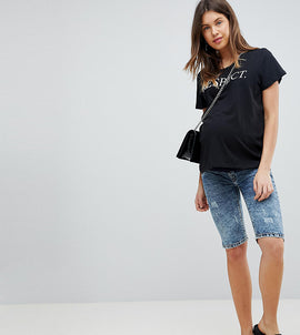 Supermom Maternity Denim Shorts - Blue