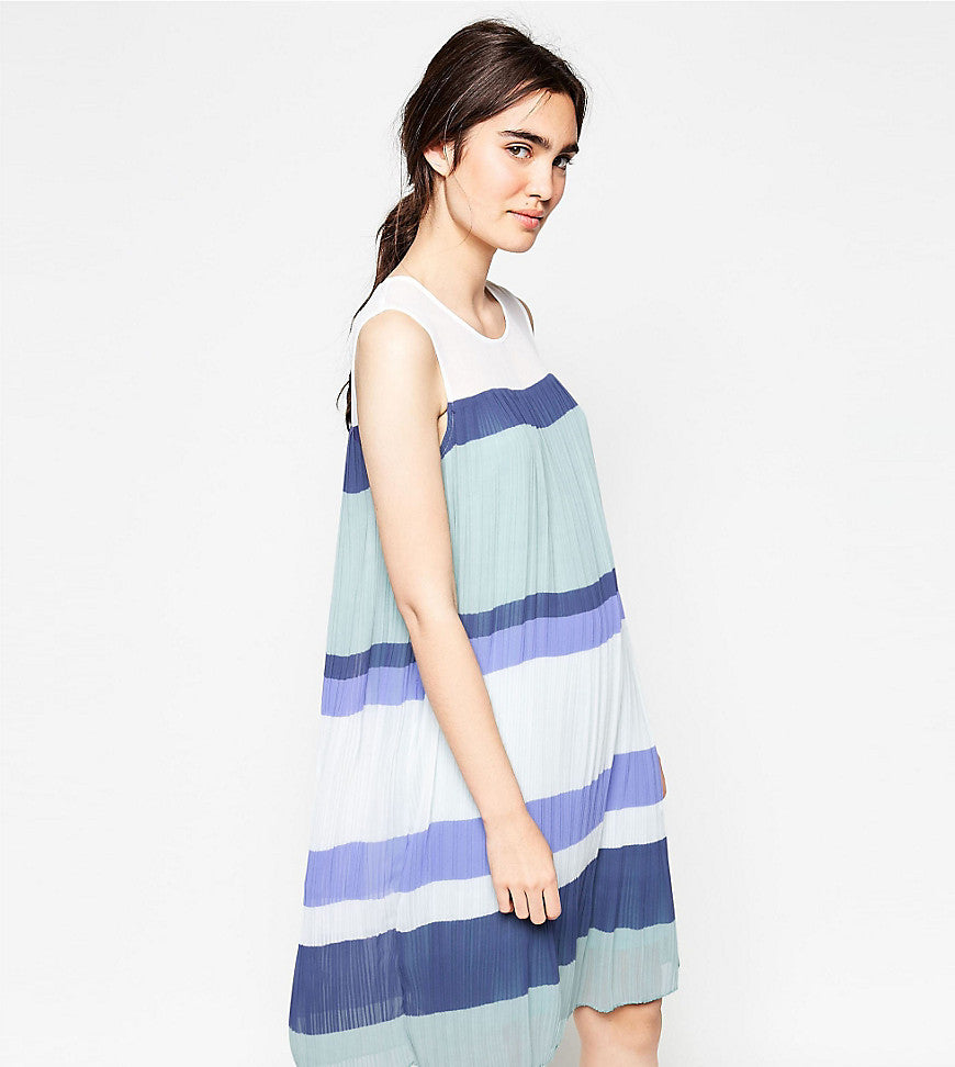 Y.A.S Colourblock Pleated Dress - Colourblock