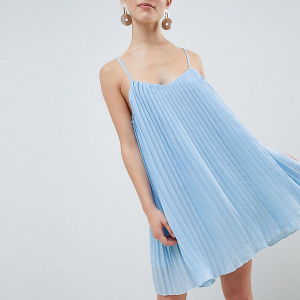Missguided Petite Cami Swing Dress - Light blue