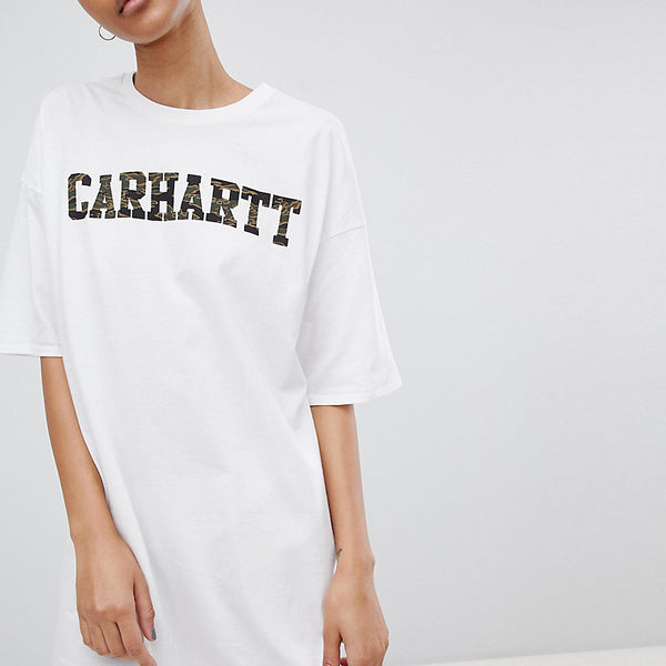 Carhartt WIP Camo Logo T-Shirt Dress - White