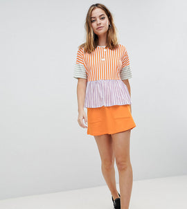 Noisy May Petite Mini Skirt With Pockets - Orange