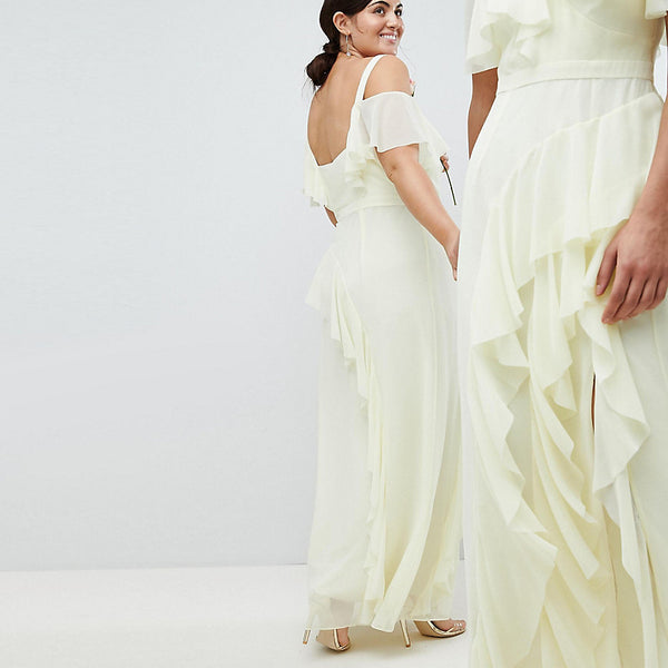 Coast Plus Illy Ruffle Maxi Dress - Lemon