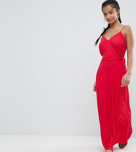 ASOS Petite wrap maxi dress - Red