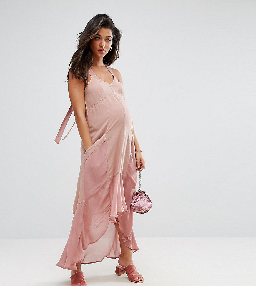 ASOS Maternity Casual Parachute Maxi Dress - Pink