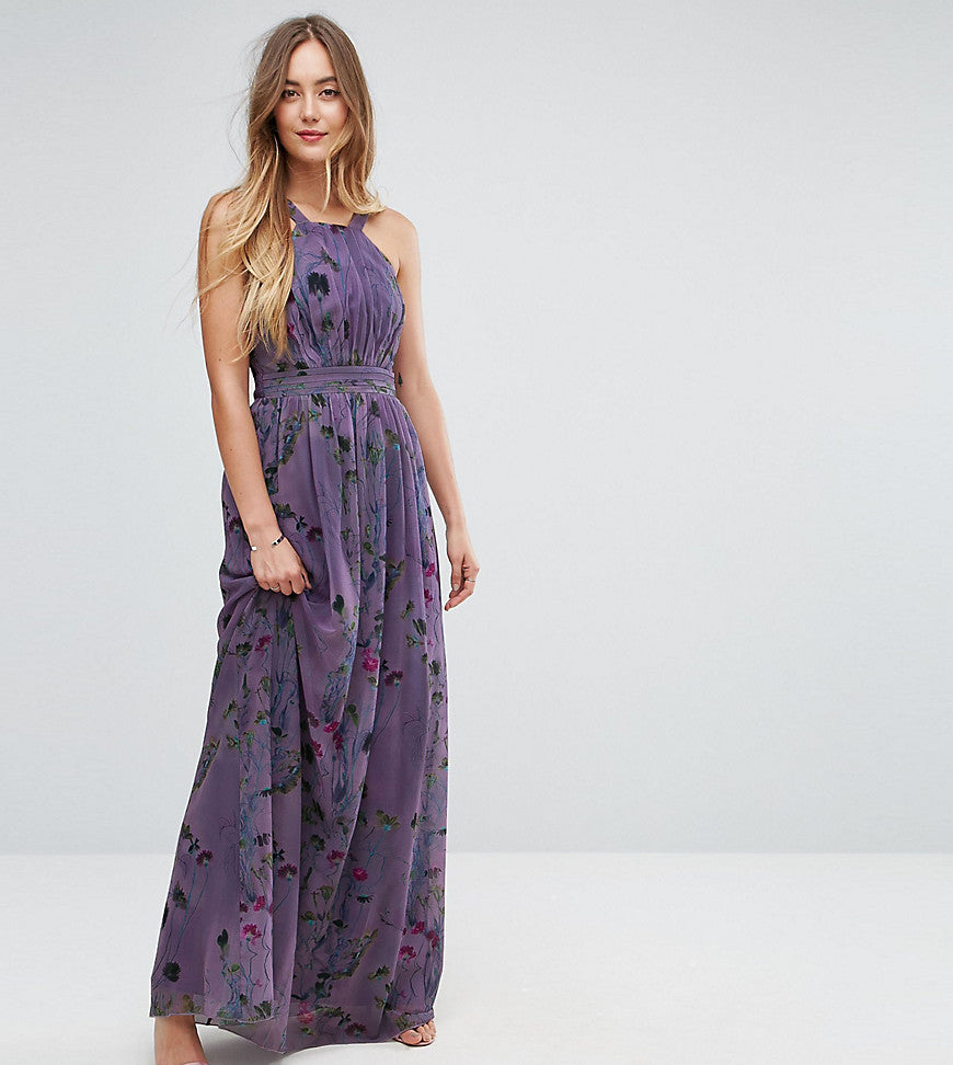 Little Mistress Tall All Over Floral Trophy Maxi Dress - Multi