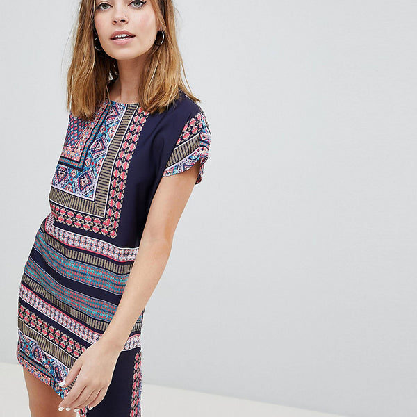Noisy May Petite Festival Print Dress - Multi