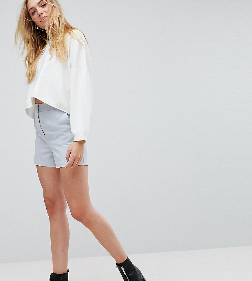 ASOS TALL Tailored A-Line Shorts - Soft grey