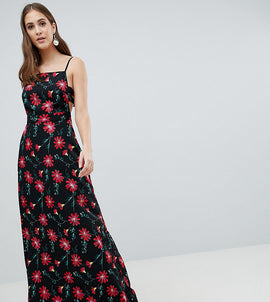 ASOS DESIGN Tall square neck maxi dress in floral print - Multi