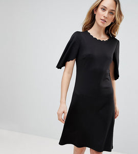 Y.A.S Tall Sulaima Mutton Sleeve Dress - Bk1 - black