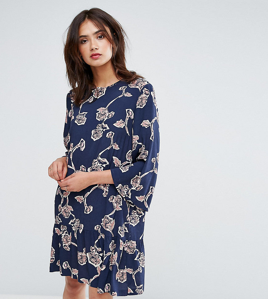 Y.A.S Tall Allover Floral Printed Shift Dress - Multi