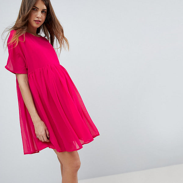 ASOS Maternity Woven Smock Dress - Berry