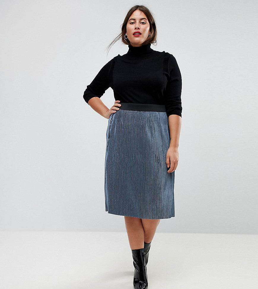 Junarose Metallic Skirt - Grey