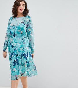 Junarose Floral Floaty Midi Dress - Multi