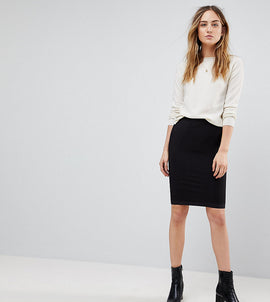 Y.A.S Tall Sesilie Stretch Skirt - Bk1 - black