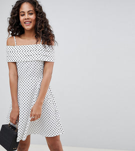 ASOS DESIGN Tall spot sundress with pleat detail - Multi
