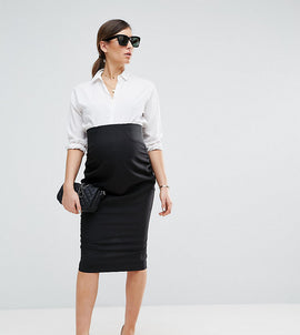 ASOS Maternity Workwear Tailored Pencil Skirt - Black
