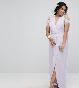 TFNC Plus Wedding Wrap Maxi - Purple