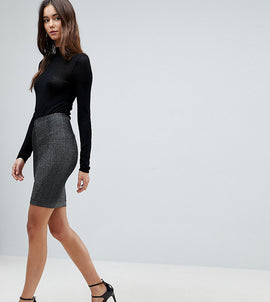 Y.A.S Tall Ciroli Mid Waist Pencil Skirt - Black