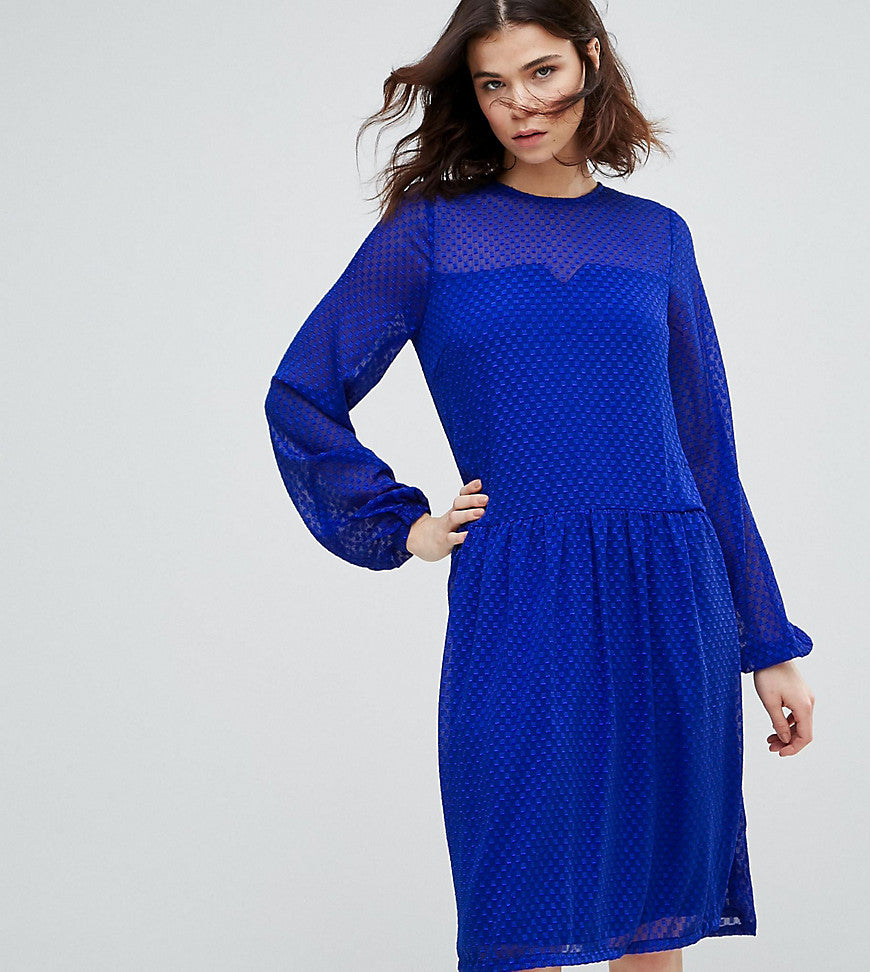 Y.A.S Tall Textured Smock Dress - Surf the web