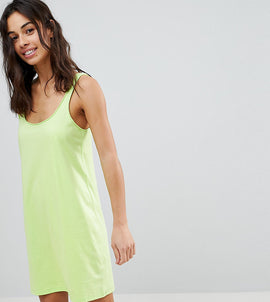 ASOS PETITE Ultimate Mini Vest Dress - Lime