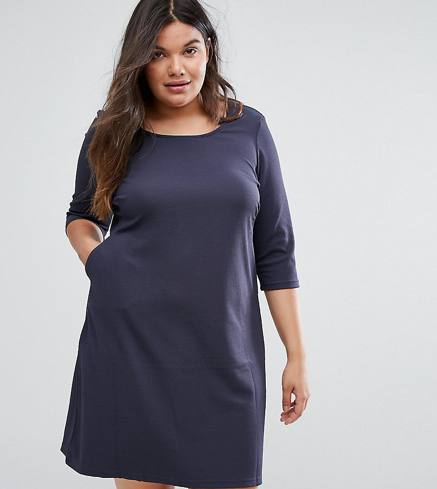 Junarose Shift Dress - Ombre blue