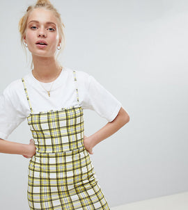 Daisy Street 90'S Cami Dress In Check - Yellow