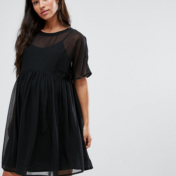 ASOS Maternity Woven Smock Dress - Black