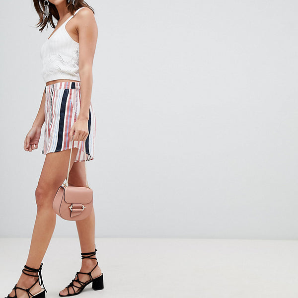 Vila Bright Stripe Short - Multi