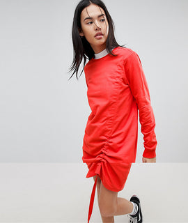 Noisy May Jersey Jumper Dress - Red