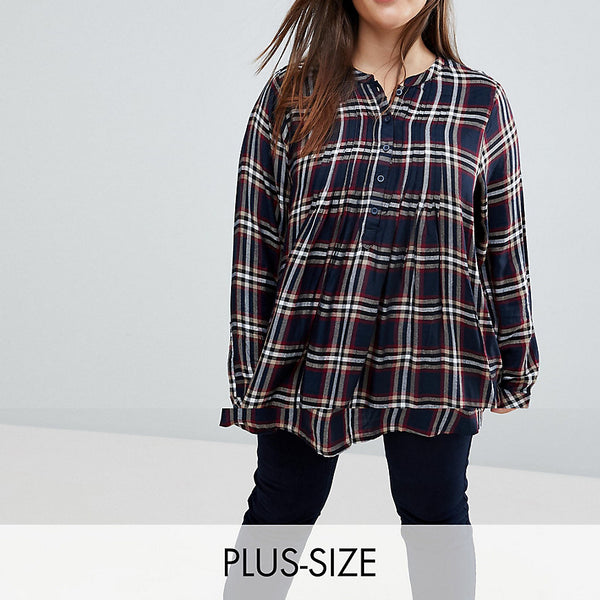 Junarose Check Shirt Dress - Multi