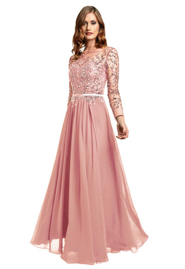Dynasty Molly Pink Evening Dress