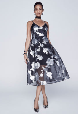 *Available for pre-order* Alesha Dixon Sheer Floral Prom Dress