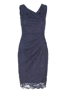 Lipstick Boutique Jessica Wright Peggy Lace Dress in Navy