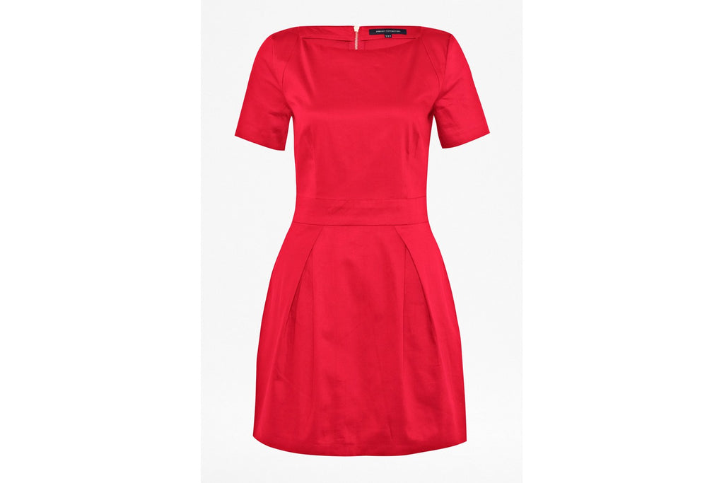 Plain Richie Structured Dress - royal scarlet