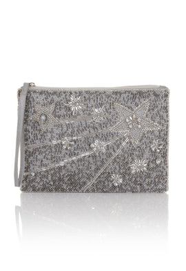 Frock and Frill Iris Embellished Evening Bag With Shooting Star Detail