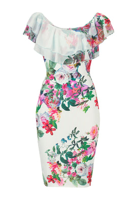 Lipstick Boutique Jessica Wright Willow Floral Off The Shoulder Dress