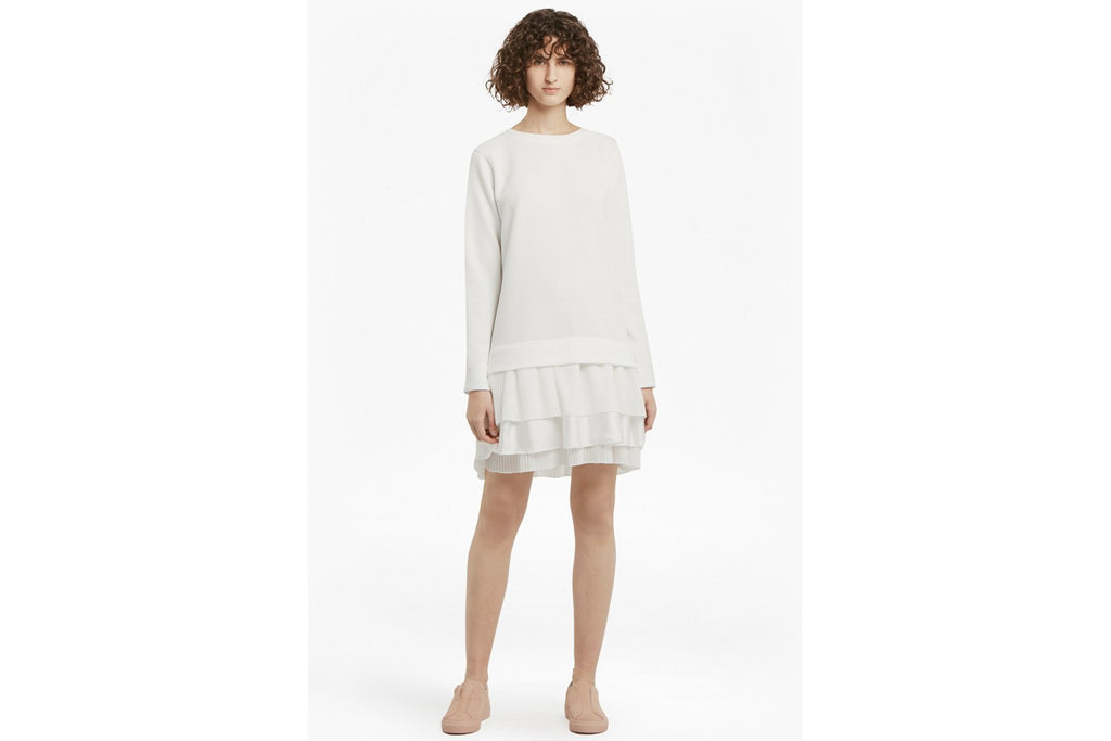 Tommy Texture Sweat Dress - winter white