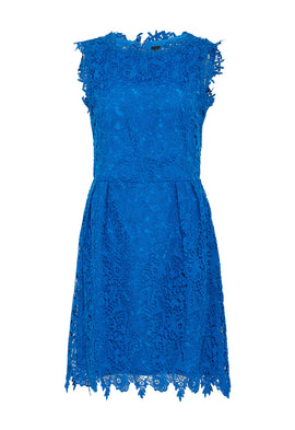 Zibi London Sleeveless Lace Dress in Blue