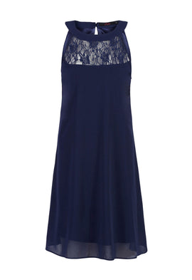 Zibi London Blue Lace Halter Neck Dress