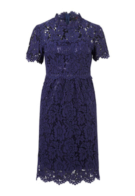 Zibi London Blue Lace Cap Sleeve Dress